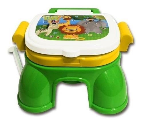 Pelela 3 En 1 Safari Reductor Y Banquito De Baño Ok Baby