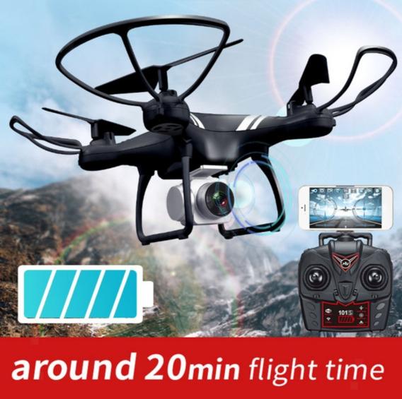 Drone Preto 101s Wi-fi Big Battery Original