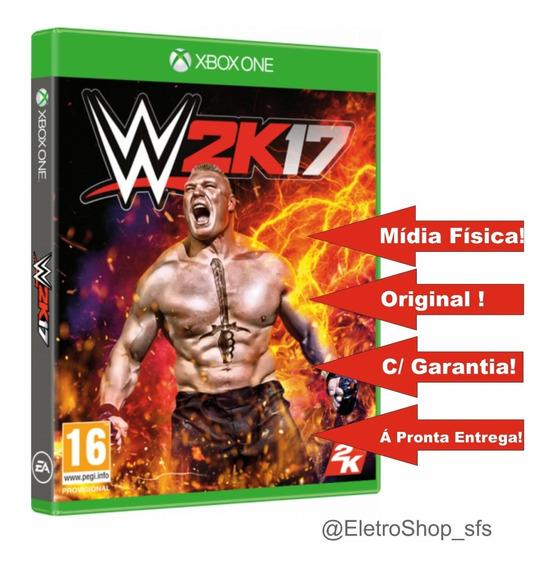 Jogo De Luta Wwe 2k17 Xbox One Mídia Física Original