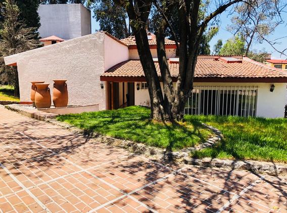 Siéntete Fuera De La Cdmx, Divina Casa Con Jardín En Loma Del Padre Cuajimalpa
