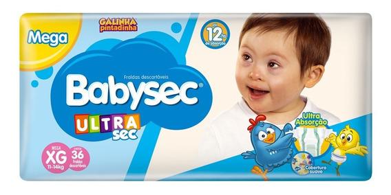 Fralda Babysec Galinha Pintadinha Ultrasec-xg-36 Unids