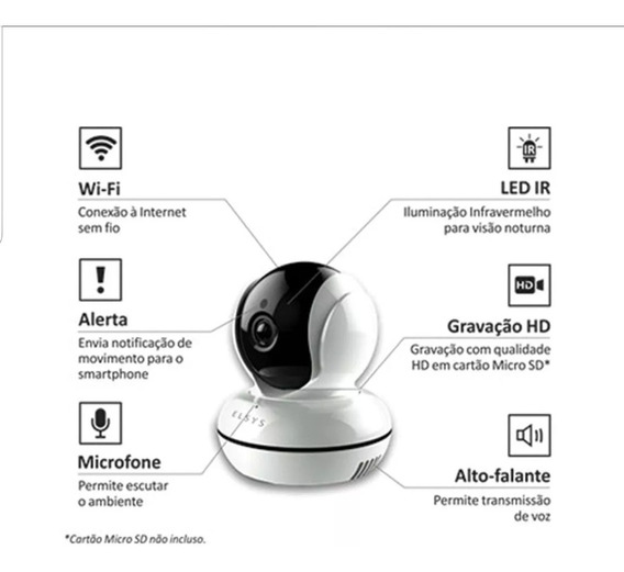 Camera De Seguranca Wi Fii Infra Vermelho.