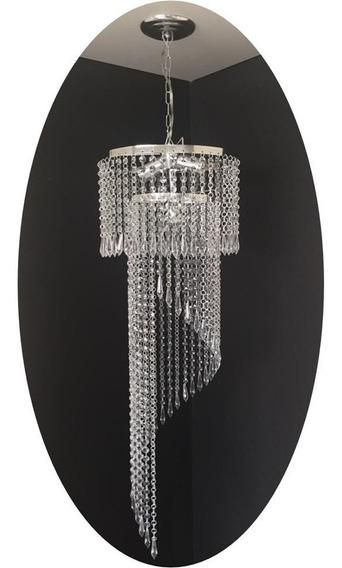Lustre Redondo Cristal Acrílico Lorena 30x105