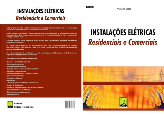 Livro Instalações Elétricas Residenciais E Comerciais R.5451
