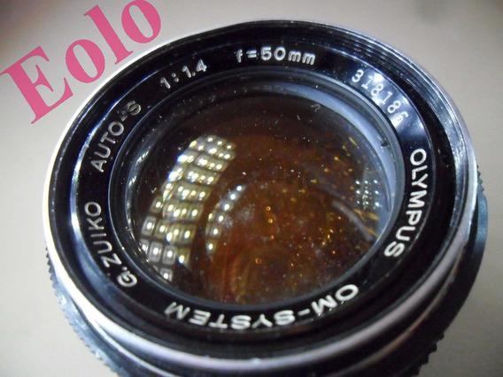Lente Olympus Om 50mm 1,4 Zuiko * Suja Mas Funciona * #
