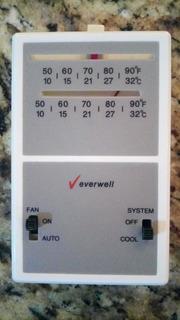 Termostato Ambiental Analogico P/aire Acondicinado; Everwell