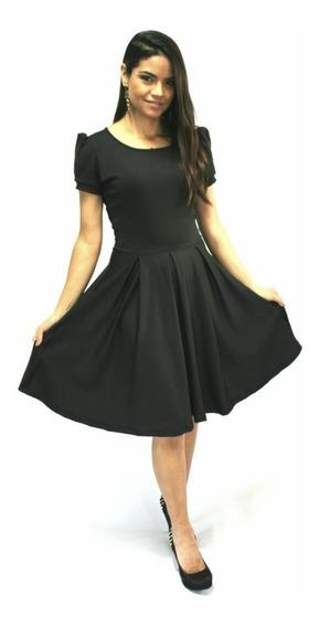 Vestido Feminino Boneca Moda Evangelica Rodado