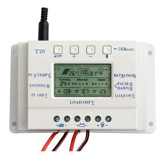 Controlador De Carga Solar Mppt T20 20a 12/24v Modelo Novo