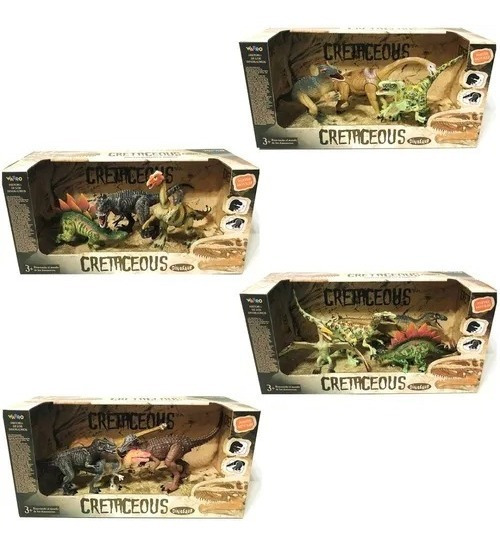 Dinosaurios Cretaceous Set X3 M4 12cm Original