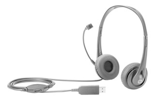 Auricular C Microfono Usb Negro Telemarketing Oficina Pc Lap