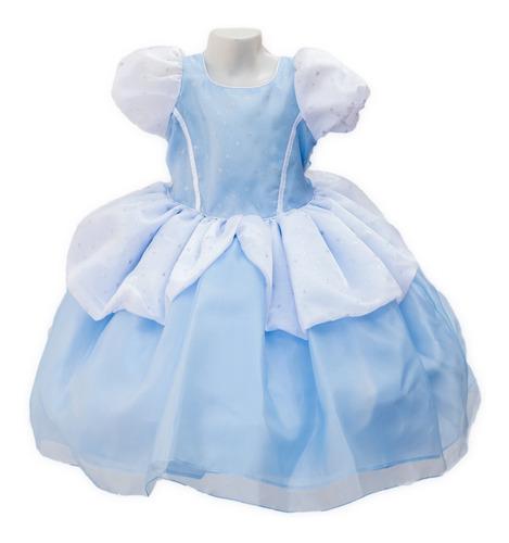 Imagen 1 de 5 de Vestido Cenicienta De Princesa Disfraz