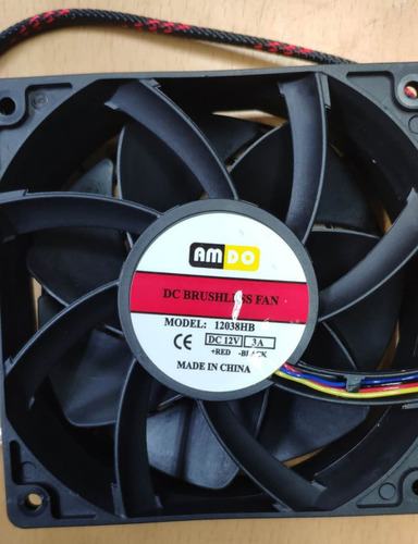 Fan Cooler 12cm Para Minero S7 S9 D3 L3 E9 8000rpm 55db 4pin