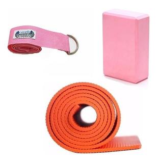 Parecer mensaje ciervo  Yoga Set Reebok Mat Bloque Cinto Portamat Pilates - Fitness y ...