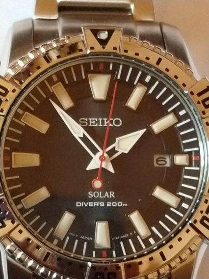 Relógio Seiko Solar 200m V157aa/1 P1sx Original