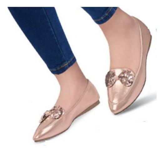 Zapato Casual Flats Oro Rosado 196-02 Cklass Urban 2-19 E