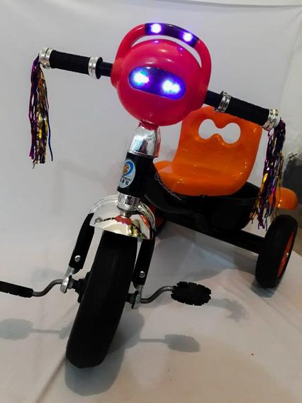 Triciclo Bike Infantil Com Luzes Led E Sons