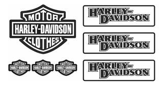 Adesivo Capacete Harley Davidson Clothes Refletivo Ktcp58