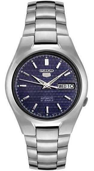 Reloj Seiko Snk603k1 Automático Plateado-azul De Caballero