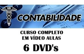 Curso De Contabilidade Em Vídeo 6 Dvds Frete Grátis