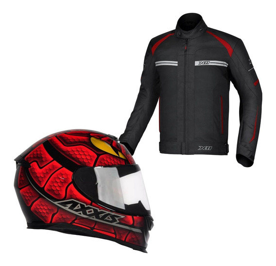 Oferta Combo Jaqueta X11 One 2 + Capacete Axxis Snake Outlet