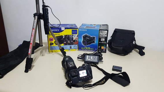Sony Cybershot Dsc F828 8mp - 28-200mm + Acessórios - Linda