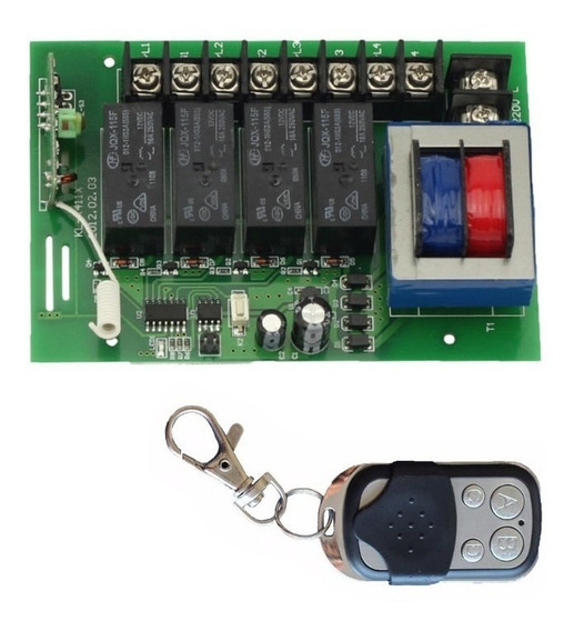 2x Chaves Interruptora Liga Desliga 4x Controle Remoto 4cn
