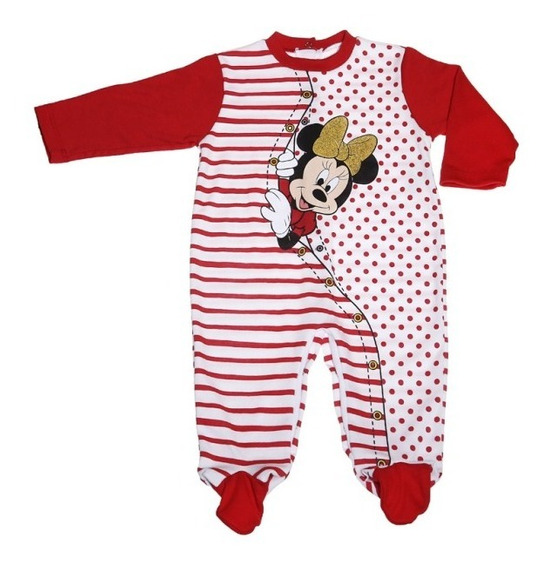 Pijama Completa Interlok Estampado Minnie Puntos Bb Ideal