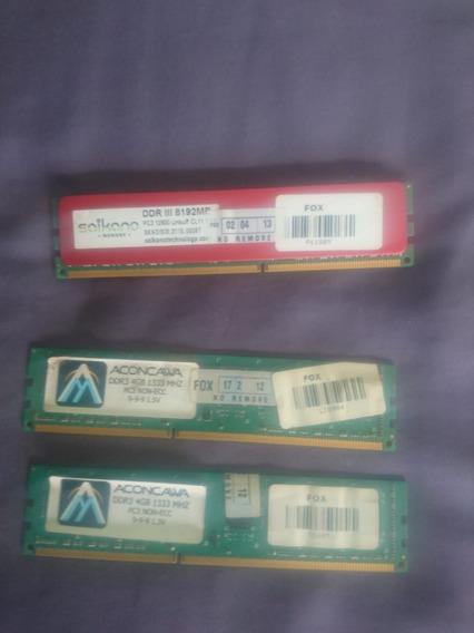 Memoria Ddr3 8 Gb 2 X 4 Aconcawa 1333 Mhz