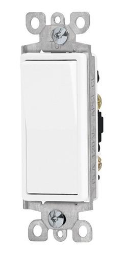 Interruptor Sencillo 3 Vías Placa Plástica Fulgore Fu1323