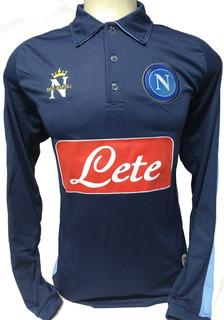 Camisa Da Napoli Italia Manga Longa
