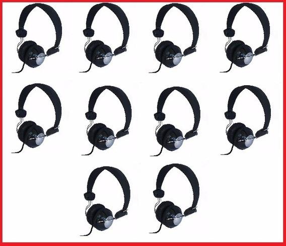 Kit 10 Headfone Com Microfone