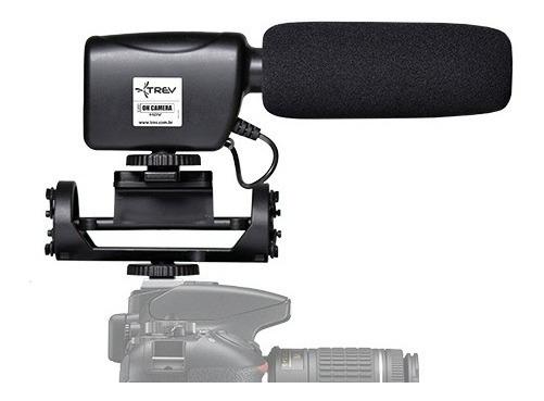 Microfone Direcional Shotgun Steady P/ Câmera Canon Eos 80d