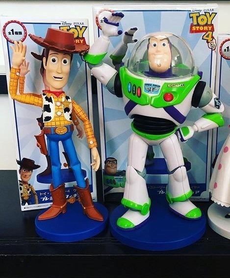Toy Story Buzz E Woody Sega Prize Original 24 E 22cm