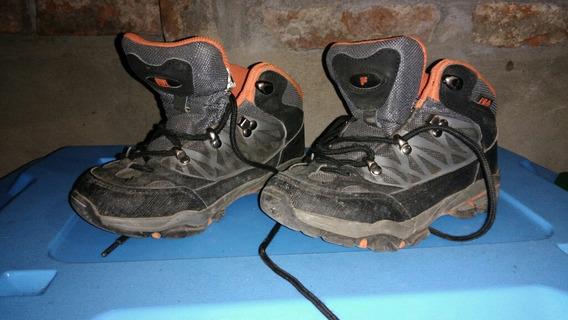 Zapatillas Niño Niña Trekking Marca Fila Muy Poco Uso