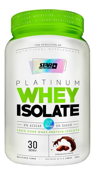 Proteina 100% Isolada Star Nutrition X 2 Lb - Libre Lactosa