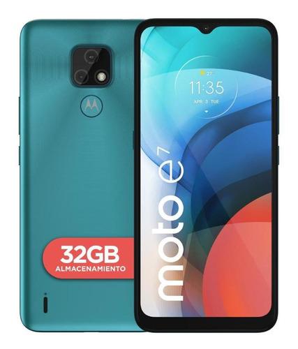 Imagen 1 de 8 de Celular Motorola Moto E7 32gb Azul