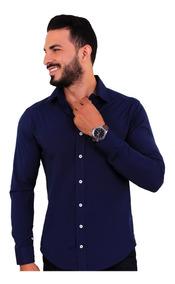 Kit 3 Camisa Social Masculina Slim Fit No Atacado Blusa Born