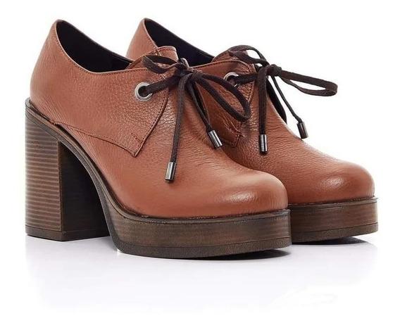 Zapatos Via Uno Flotter T. 39 Color Camel. Nuevos