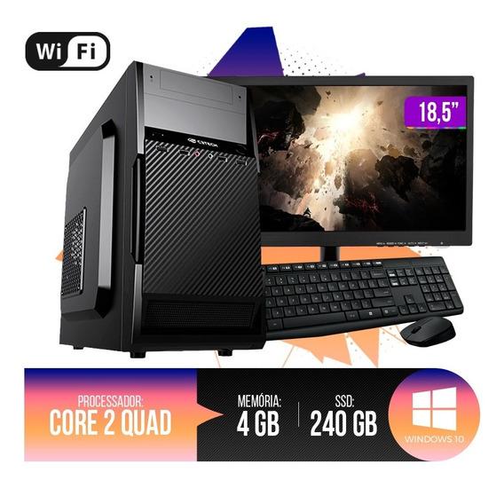 Pc Completo Intel Core 2 Quad, 4gb Ram Ddr3, Hd Ssd 240gb