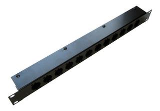 Caixa Metal Fechada P/ 12 Conectores Plugs Xlr Canon C1u12x