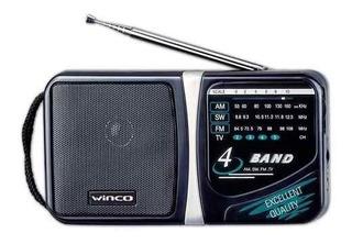 Radio Am-fm Portatil 4 Bandas Winco W-204 Salida Auriculares