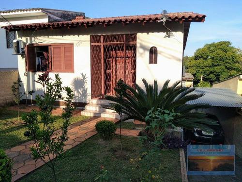 Terreno De 350 M² Com 02 Casas Construídas E Acesso Individual  Por R$ 470.000 - Vila Nova - Porto Alegre/rs - Ca0588