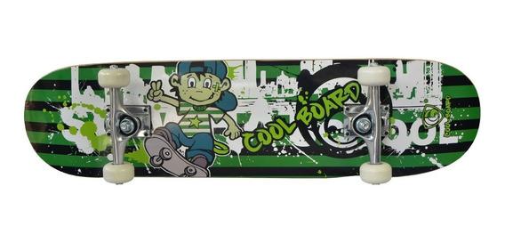 Patineta Skate Skateboard Tabla Premium Grass Negro Plt