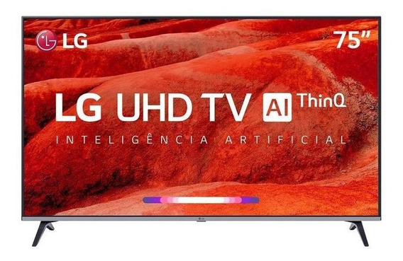 Smart Tv 4k Led 75 Lg Um7510psb, 4 Hdmi, 2 Usb, Web0s
