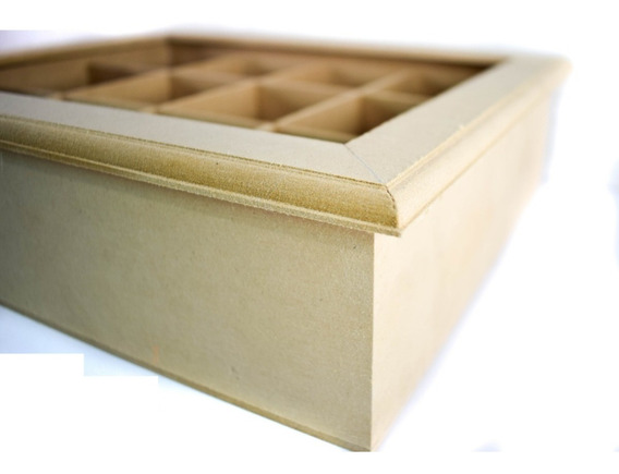 Cajas De Te Vidrio X 12 Div Fibrofacil Artesania Decorar