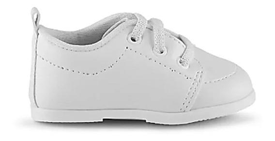 Sapato Social Infantil Pimpolho Branco Batizado 008501