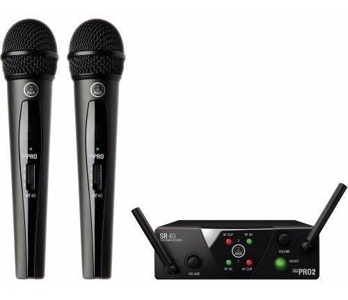 Microfone Sem Fio Wireless Mini Dual Wms40 Preto Akg