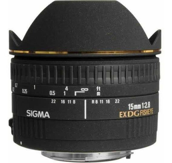 Lente Sigma 15mm F/2.8 Ex Dg Fisheye Para Nikon