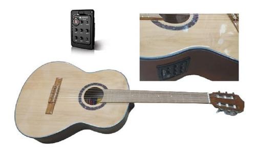 Guitarra Electroacustica Tapa Pino Microfono Gt2 Accesorios