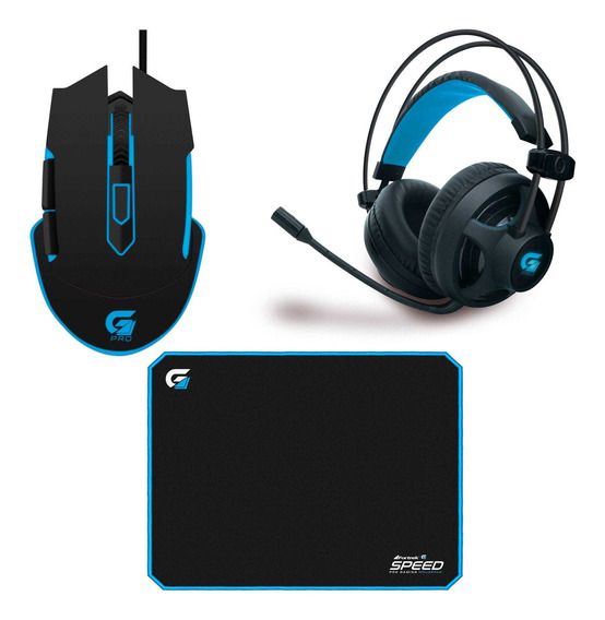 Combo Kit Gamer Fortrek Mouse M5 Mousepad Speed Headset H2
